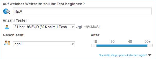 Abbildung 1: Erstellung eines Rapid User Test